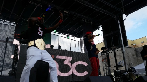 Pastor Troy and His Belt Hit the A3C Main Stage. Photo credit: Nadine Graham